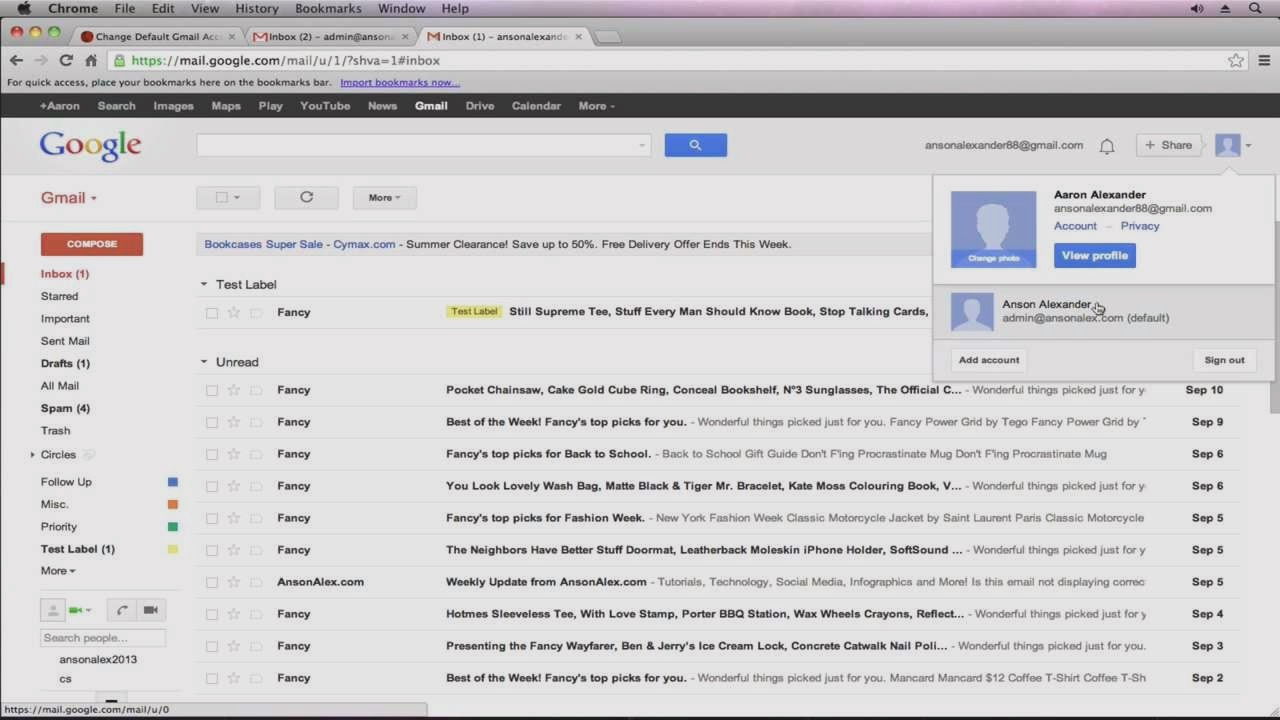 View gmail profile